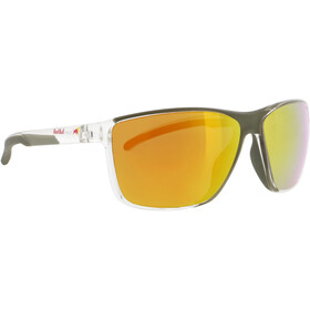 Red Bull SPECT Drift Zonnebril Heren, x'tal clear/brown with orange mirror polarized